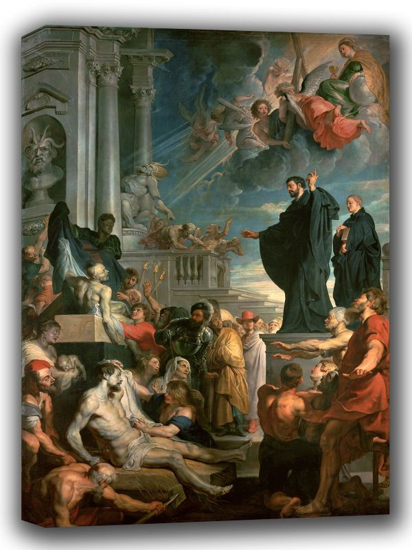 Rubens, Peter Paul: Saint Francis Xavier Blessing the Sick . Fine Art Canvas. Sizes: A4/A3/A2/A1 (002124)